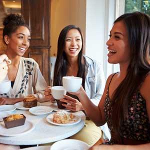 Ladies having coffee at Callan